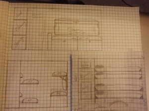 An early sketch of how the bunks will look.
