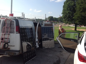 Can't make this stuff up. That's a nomadic evangelical electrician who sells solar panels from a van.