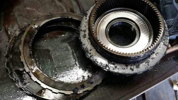 This is what was left of the transmission after 280,000 miles